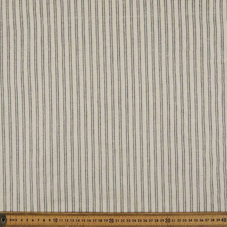 Double Stripe Cotton Flax Fabric