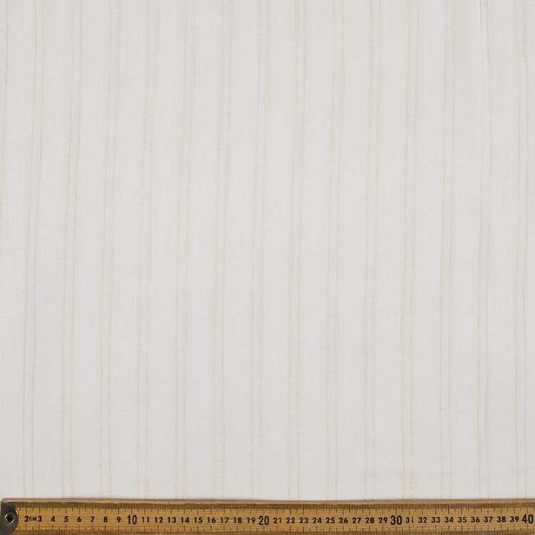Raised Stripe Yarn Dye Textured Cotton Fabric