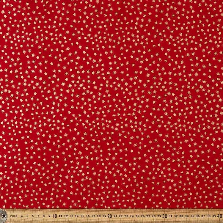 Metallic Christmas New Star Cotton Fabric