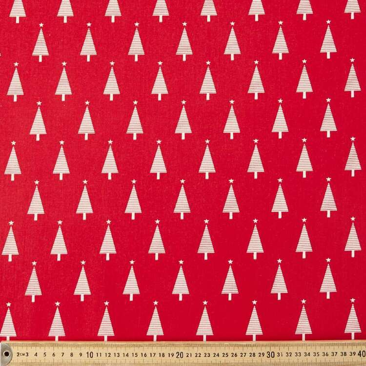 Scandi Star Tree Cotton Fabric