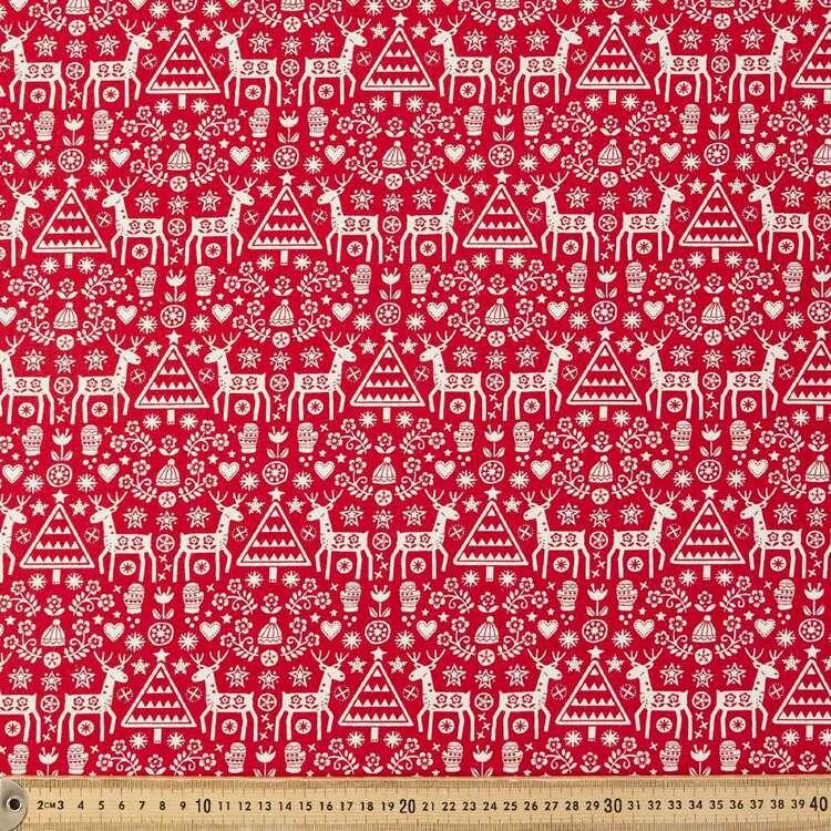 Scandi Tree Stag Cotton Fabric