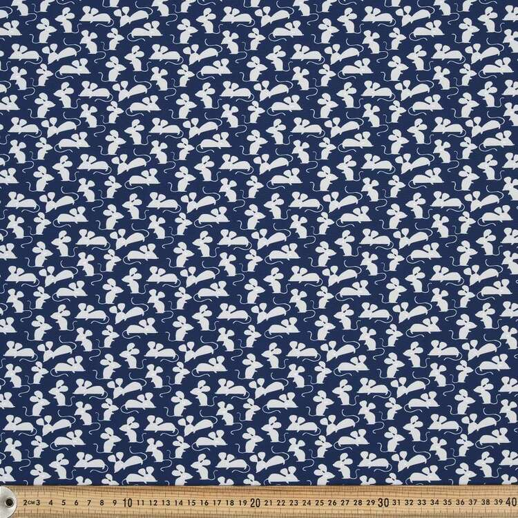 Mice Printed 150 cm Trunks Microfiber G4 Fabric