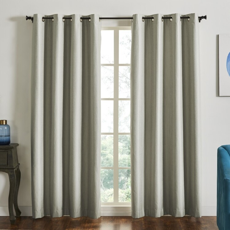 Home Label Collection Cruz Blockout Eyelet Curtains