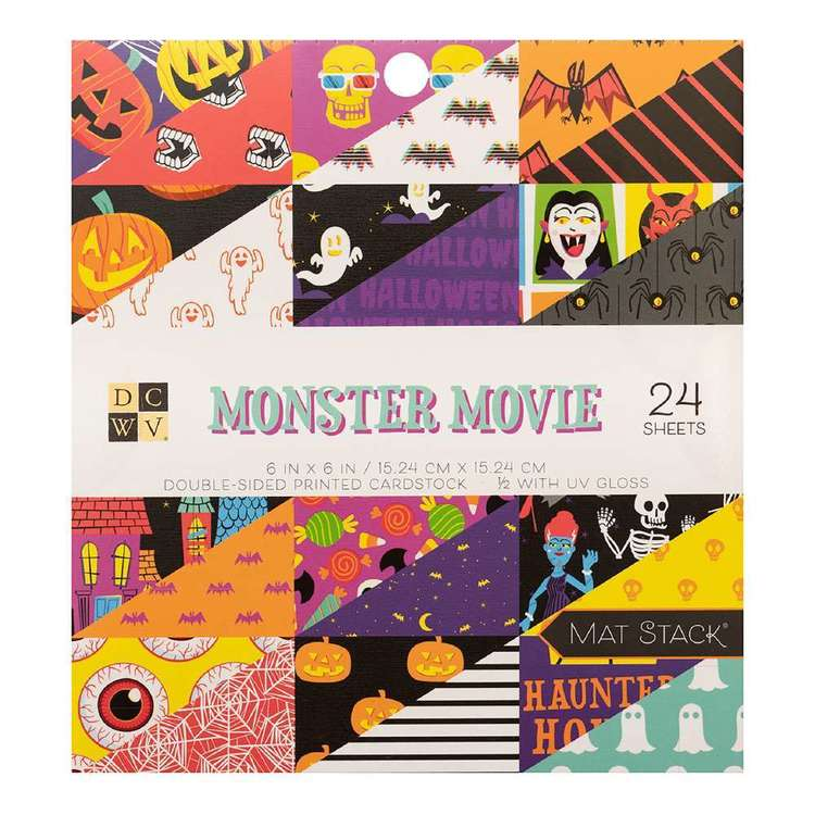 Die Cuts With A View Monster Movie 6 x 6 in Paper Pad