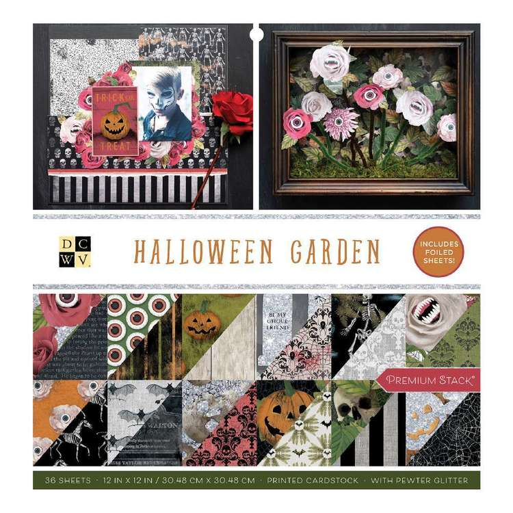 Die Cuts With A View Halloween Garden 12 x 12 in Paper Pad Halloween Garden 12 x 12 in