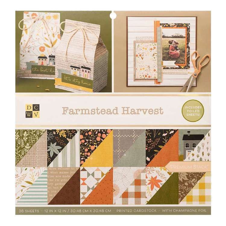 Die Cuts With A View Farmstead Harvest 12 x 12 in Paper Pad