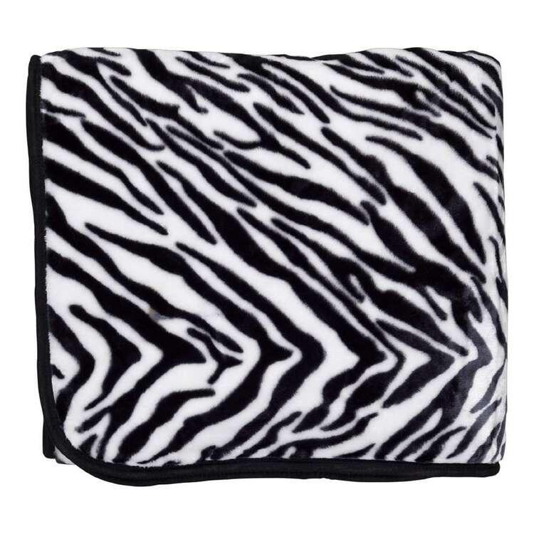Ever Rest Zebra Mink Blanket