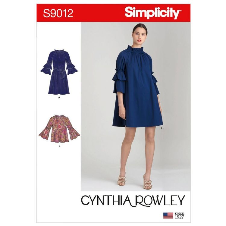 Simplicity Pattern S9012 Misses' Dresses or Top & Belt