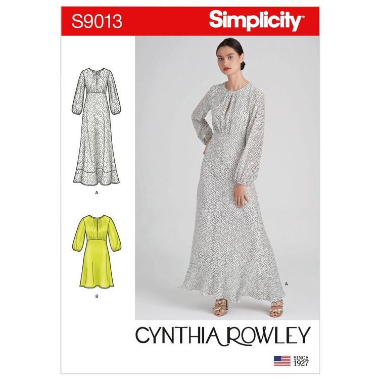 Simplicity Pattern S9013 Misses' Dresses in Two Lengths