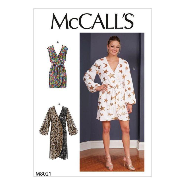 McCall's Pattern M8021 Misses' Dresses & Belt