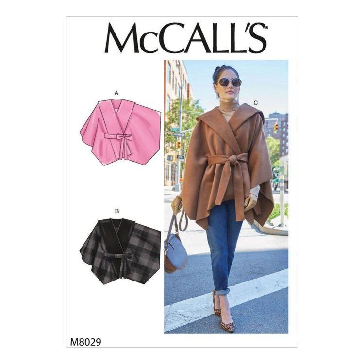 McCall's Pattern M8029 Misses' Capes & Belt