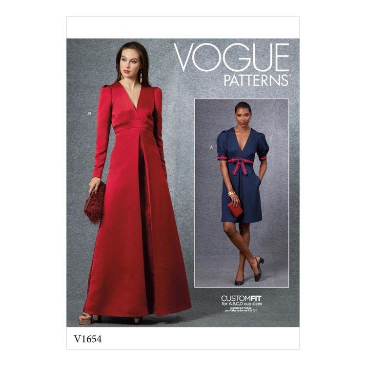 Vogue Pattern V1654 Misses' Special Occasion Dress