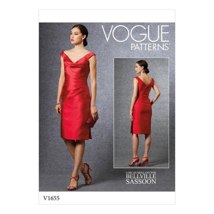 Vogue Pattern V1655 Misses' Special Occasion Dress