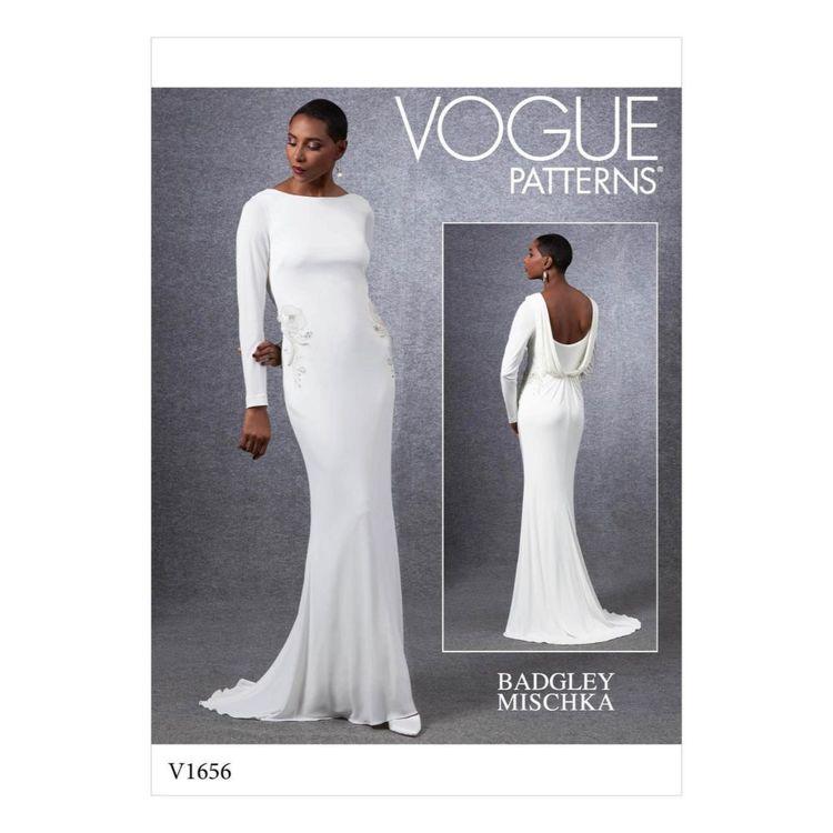 Vogue Pattern V1656 Misses' Special Occasion Dress
