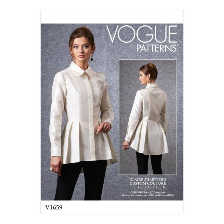 Vogue Pattern V1659 Misses' / Misses' Petite Shirt