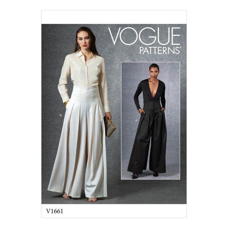 Vogue Pattern V1661 Misses' Pants