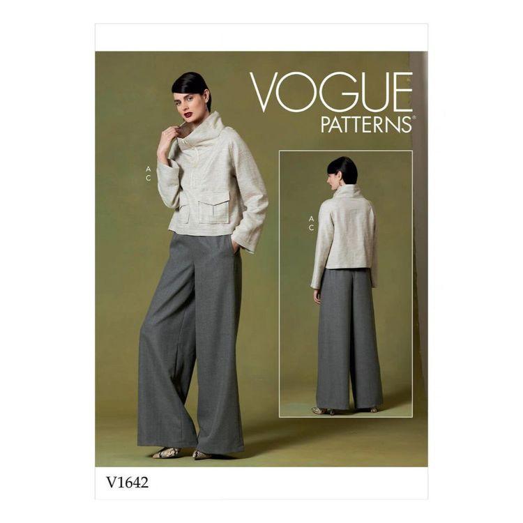 Vogue Pattern V1642 Misses' Top And Pants