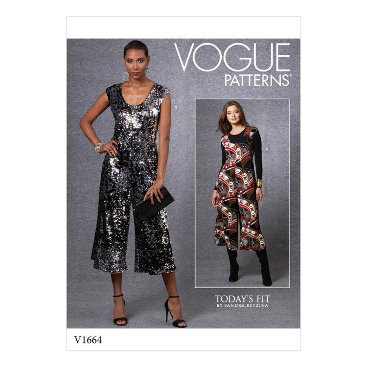 Vogue Pattern V1664 Misses' Jumpsuit