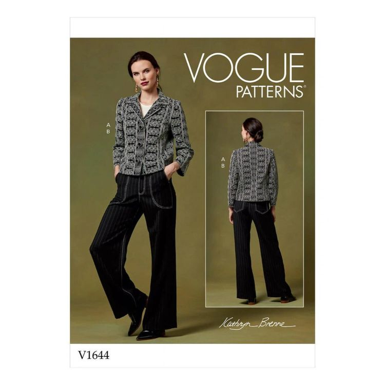 Vogue Pattern V1644 Misses' Jacket And Pants