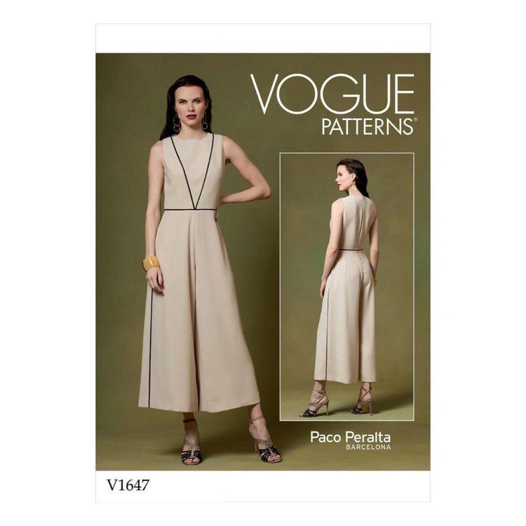 Vogue Pattern V1647 Misses' Jumpsuit