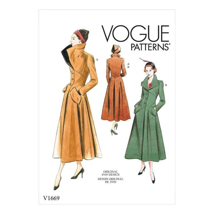 Vogue Pattern V1669 Misses' Outerwear