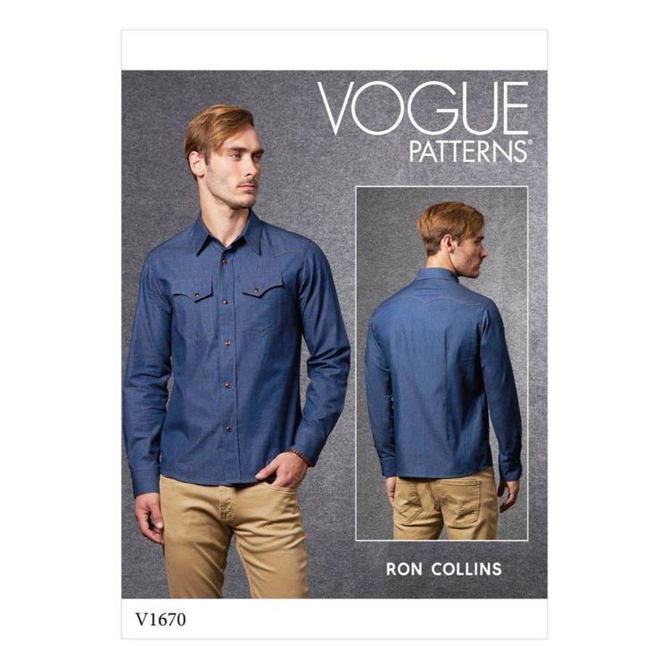 Vogue Pattern V1670 Men's Shirt