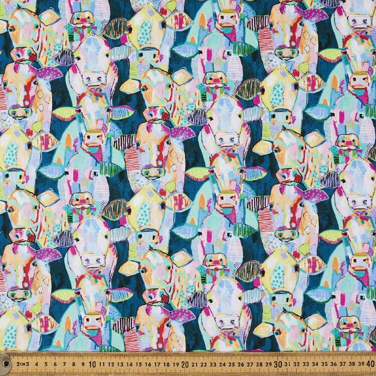 Udder Chaos Cows Cotton Fabric