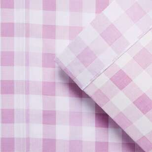 Kids House Gingham Sheet Set