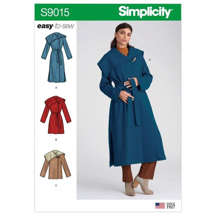 Simplicity Pattern S9015 Misses' & Misses' Petite Coat with Belt