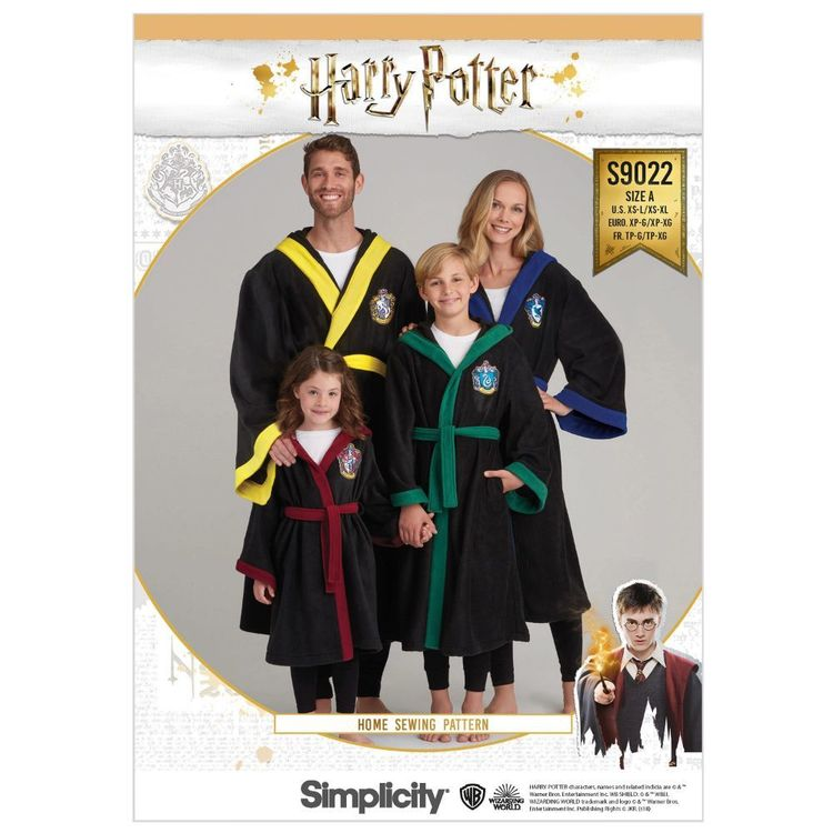 Simplicity Pattern S9022 Harry Potter Unisex Robes