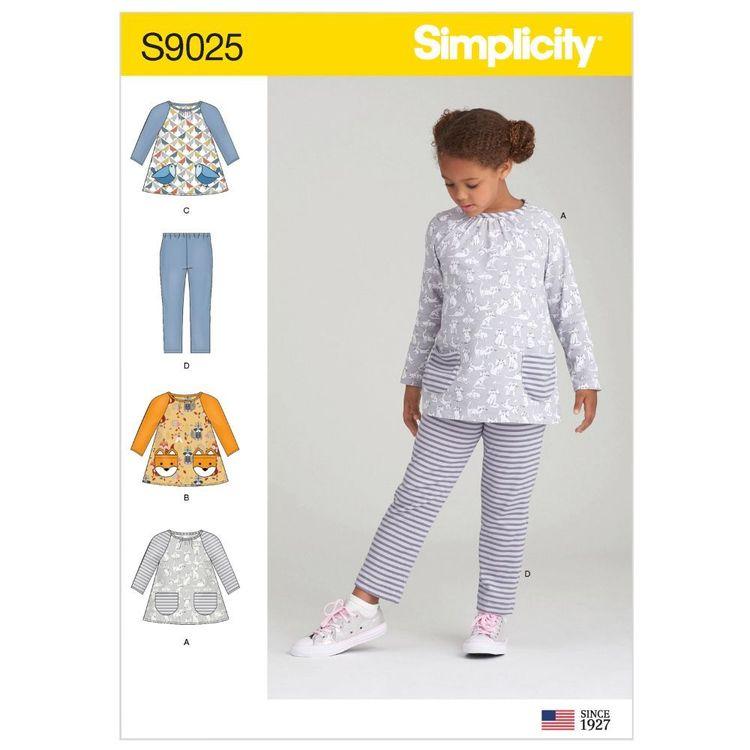 Simplicity Pattern S9025 Children's Tops & Knit Leggings