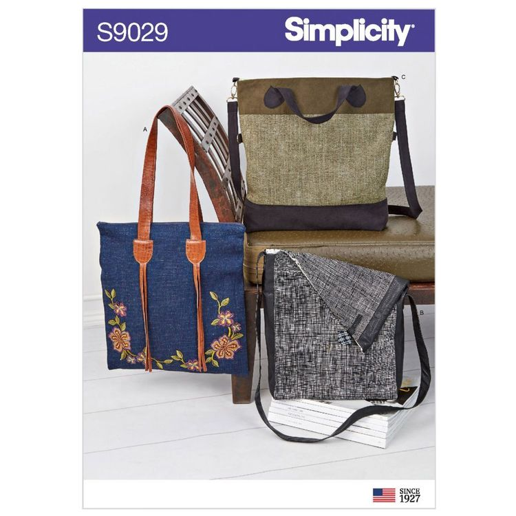 Simplicity Pattern S9029 Bags with Strap Variation