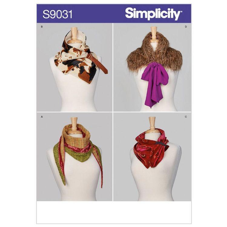 Simplicity Pattern S9031 Misses' Scarves
