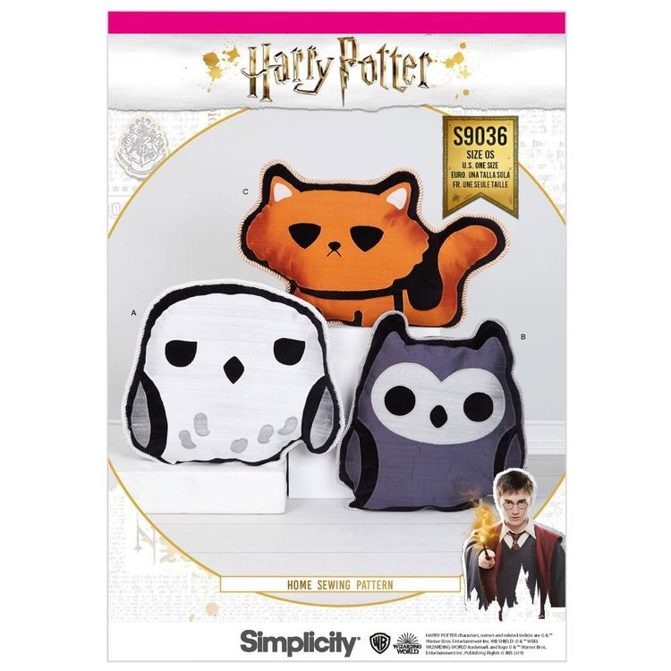 Simplicity Pattern S9036 Harry Potter Stuffed Pillows