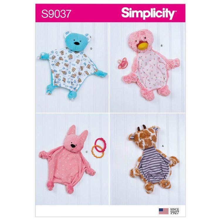 Simplicity Pattern S9037 Baby Sensory Blankets