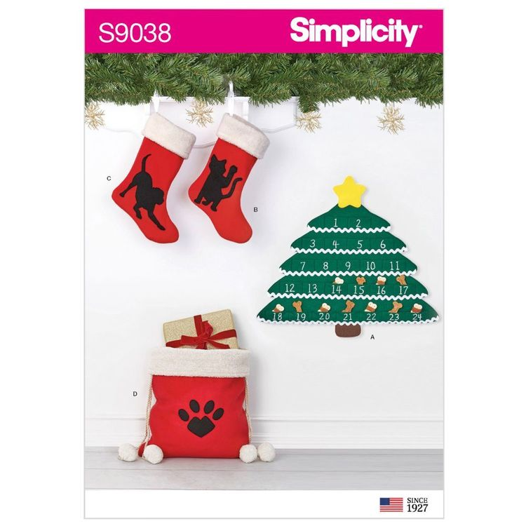 Simplicity Pattern S9038 Holiday Countdown Calendar & Accessories