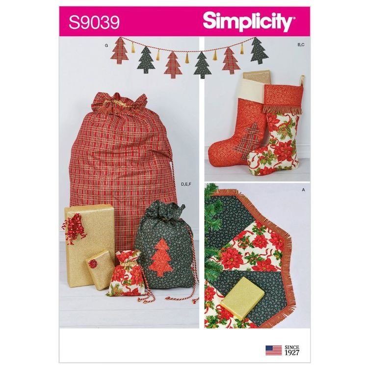 Simplicity Pattern S9039 Holiday Decorating Accessories