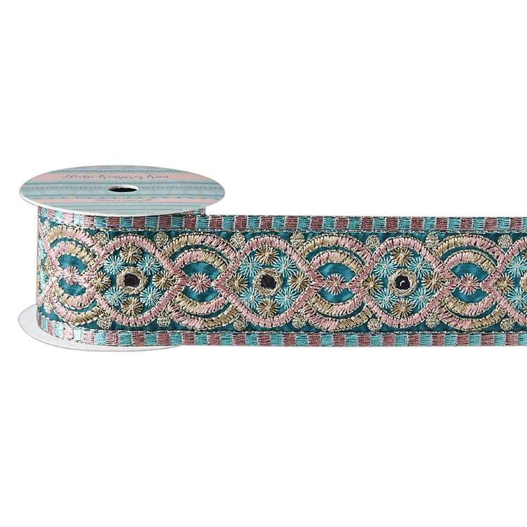 Eclectic Treasures Embroidered Mirror Braid