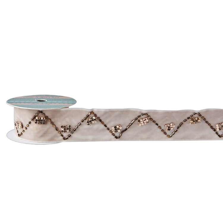 Eclectic Treasures Beaded Velvet Ribbon