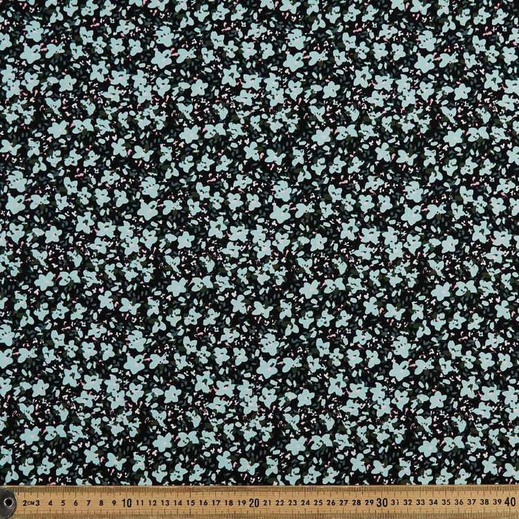 Daisy Floral Printed 148 cm Rayon Spandex Knit Fabric