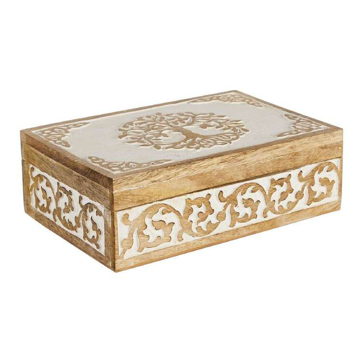 Ombre Home Spring Fields Etched Tree Box
