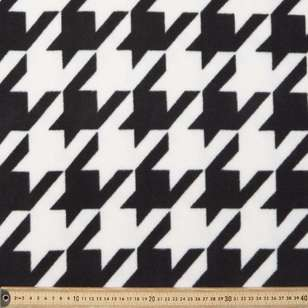 Houndstooth Printed 220 cm Wide Width Polar Fleece Fabric
