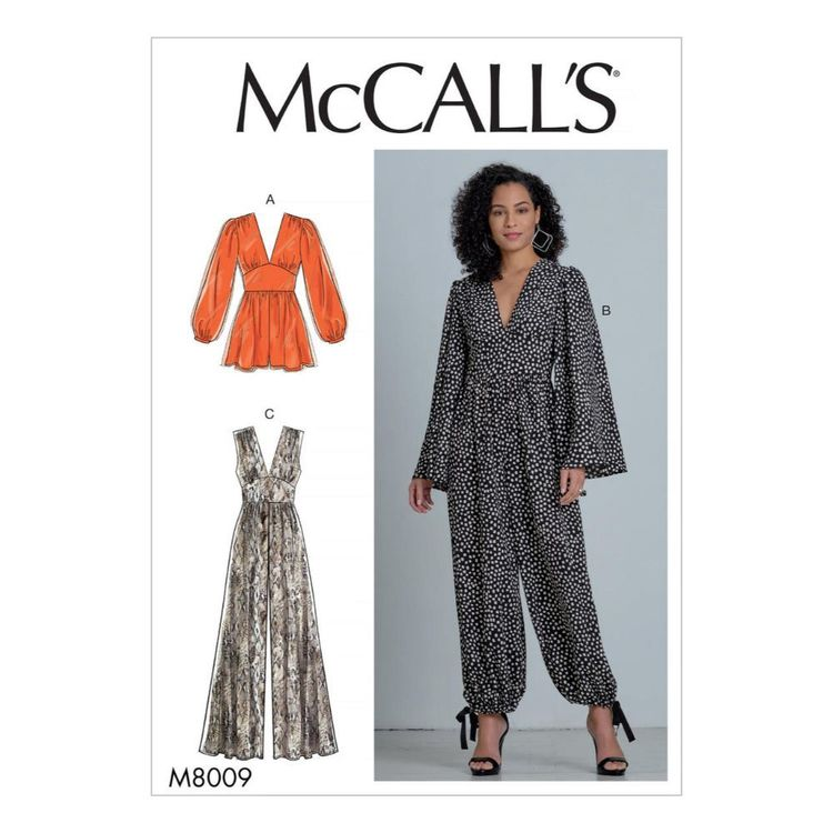 McCall's Pattern M8009 Misses' Romper and Jumpsuits