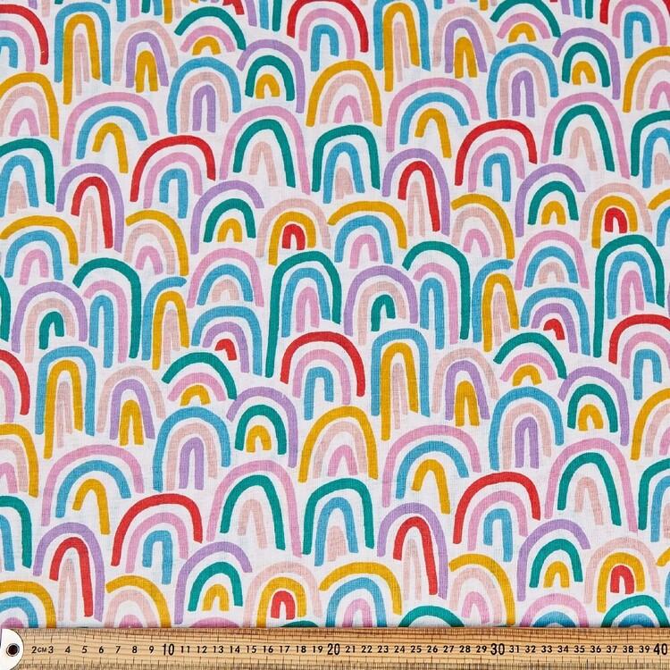 Rainbows Multipurpose Cotton Fabric