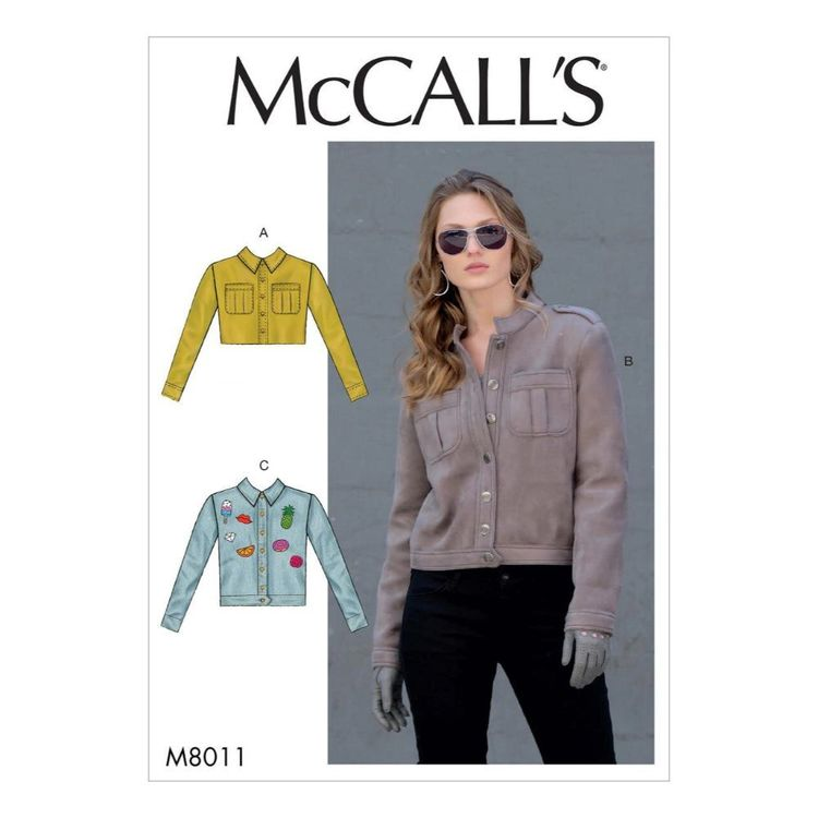McCall's Pattern M8011 Misses' Jackets