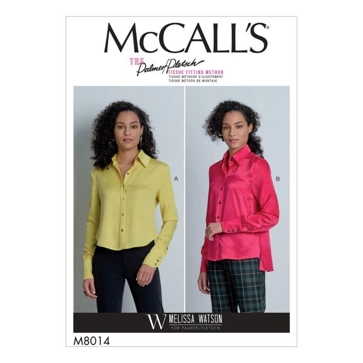 McCall's Pattern M8014 Misses' Shirts