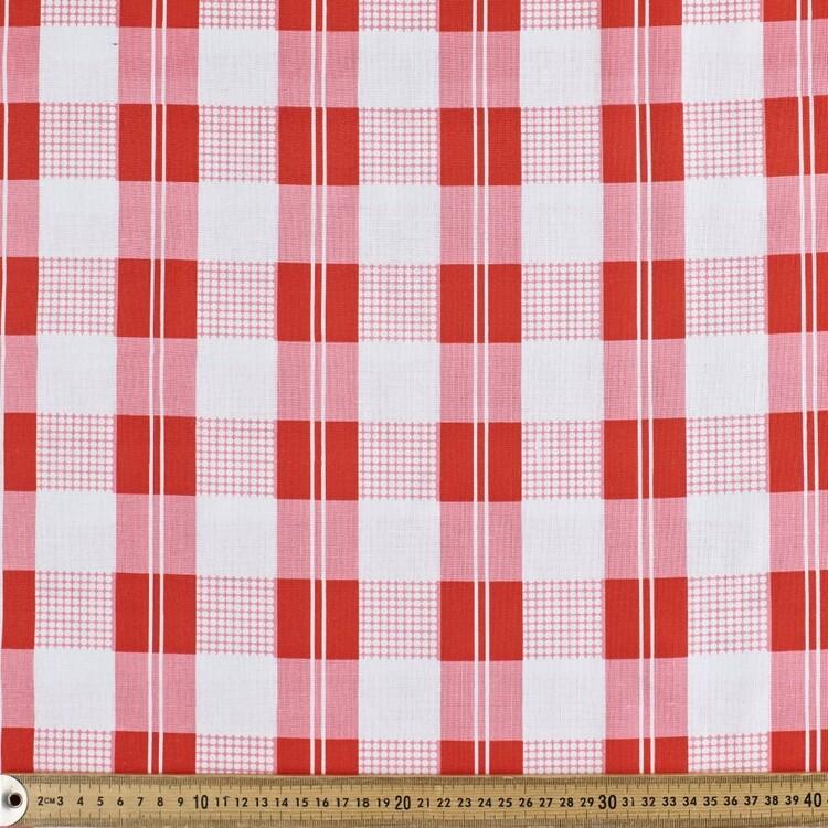 Bright Check Multipurpose Cotton Fabric