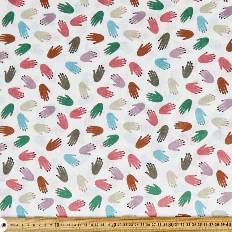 Happy Hands Printed Cotton Multipurpose Fabric