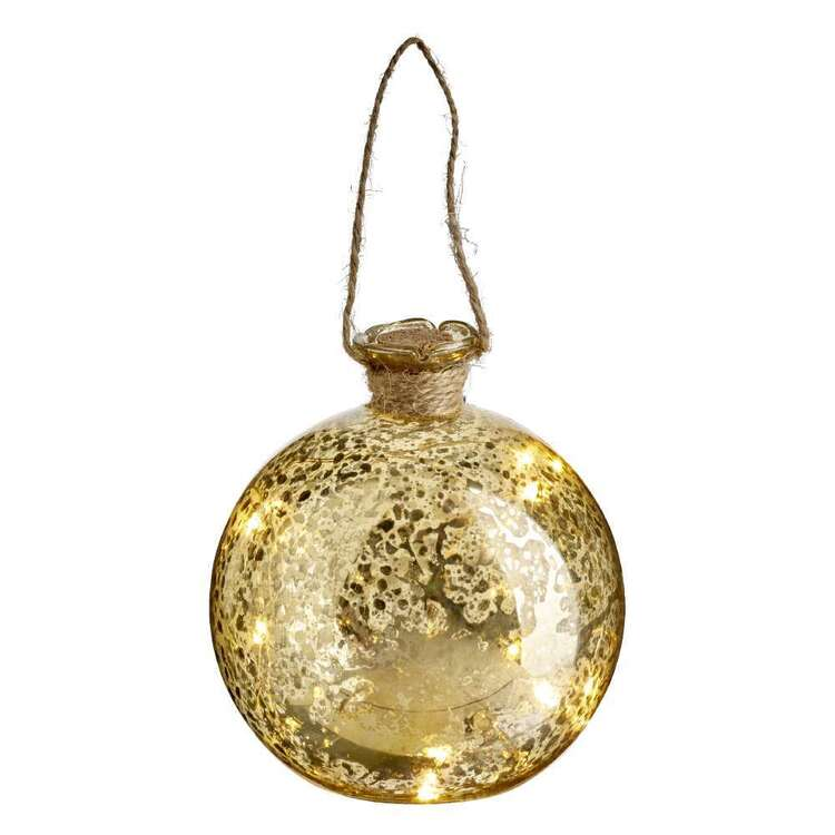 Emporium Xmas21 10 Light LED Gold Mercury Ball String