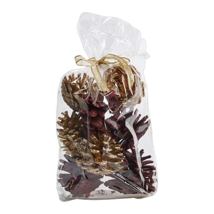 Vivante Brights Festive Pine Cones Bag
